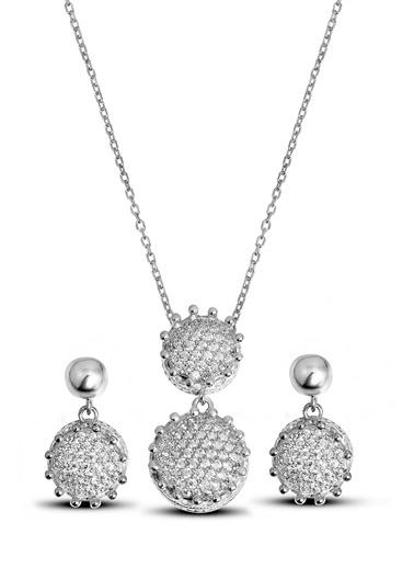 Argentum Concept Zirkon Taşlı Gümüş Set - S016302 Gümüş